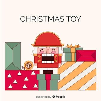 Kerstmis achtergrondstuk speelgoed militair
