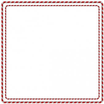 Kerstmis candy cane frame grens