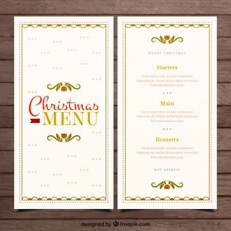 Kerstmis elegante menu