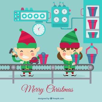 Kerstmis elfs werken