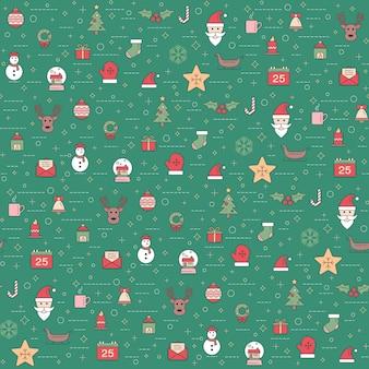 Kerstmis en gelukkig nieuw jaarpatroon. wintervakantie patroon met kerst ornament.
