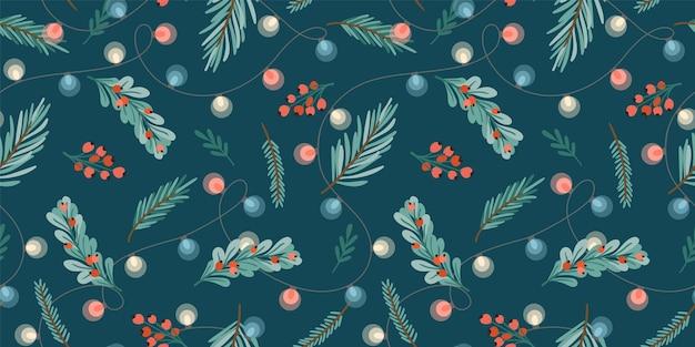 Kerstmis en gelukkig nieuwjaar naadloos patroon
