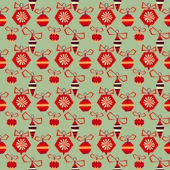 Kerstmis en gelukkig nieuwjaar patroon met hand getrokken decoratieve elementen. trendy vintage stijl.