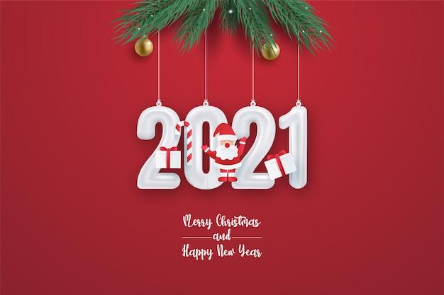 Kerstmis en gelukkig nieuwjaarskaart.