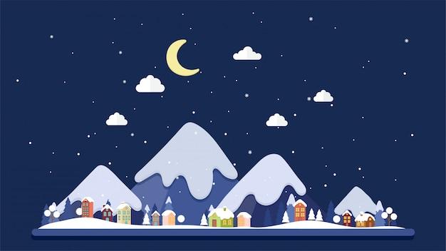 Kerstmis en landschap achtergrond