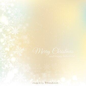 Kerstmis en nieuwjaar achtergrond van de sneeuwvlok