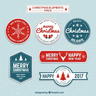 Kerstmis en nieuwjaar etiketten