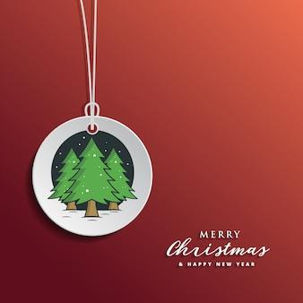 Kerstmis en nieuwjaar greertig-sjabloon