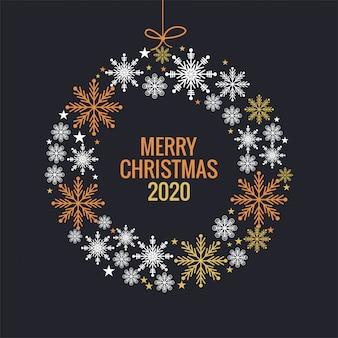 Kerstmis en nieuwjaar kleurrijke sneeuwvlokkenbal