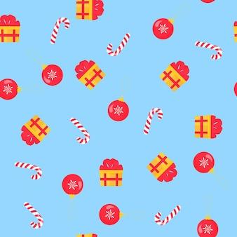 Kerstmis en nieuwjaar naadloos patroon, digitaal papier.