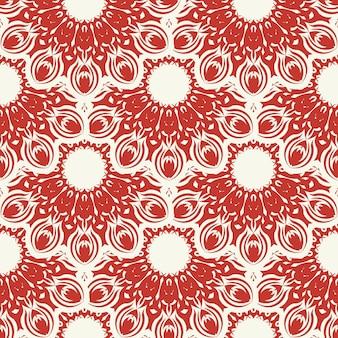 Kerstmis en nieuwjaar naadloos patroon. rood en wit fair isle pixelpatroon in rood en wit met nordic sneeuwvlokken voor wintermuts, lelijke trui, trui of andere ontwerpen.