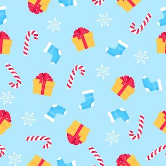 Kerstmis en nieuwjaar naadloze patroon, digitaal papier.