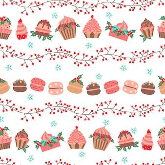 Kerstmis en nieuwjaar patroon