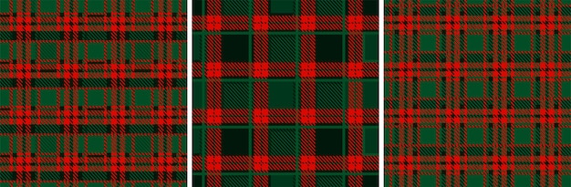 Kerstmis en nieuwjaar rood-groene geruite tartan. naadloze textuur geruite stof.