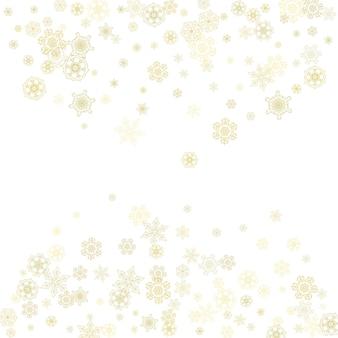 Kerstmis en nieuwjaar sneeuwvlokken