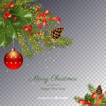 Kerstmis en nieuwjaar transparante achtergrond