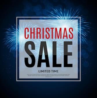 Kerstmis en nieuwjaar verkoop achtergrond, kortingsbon sjabloon. vector illustratie eps10