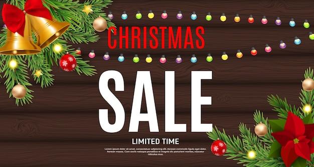 Kerstmis en nieuwjaar verkoop achtergrond