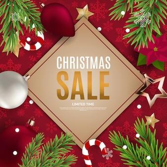 Kerstmis en nieuwjaar verkoop banner