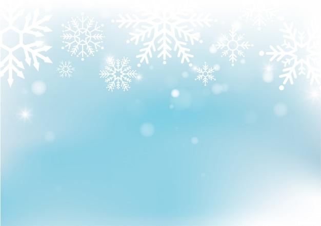 Kerstmis en nieuwjaar vervagen bokeh van licht op de achtergrond