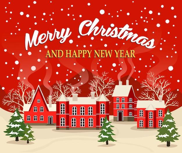 Kerstmis en nieuwjaar wenskaart