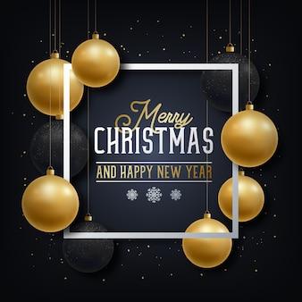 Kerstmis en nieuwjaar wenskaart.