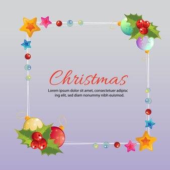Kerstmis frame kleurrijke ster