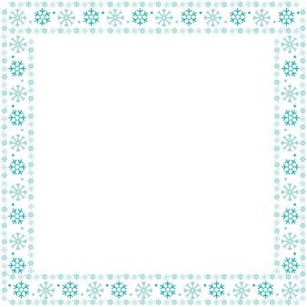 Kerstmis frame sneeuw vlokken