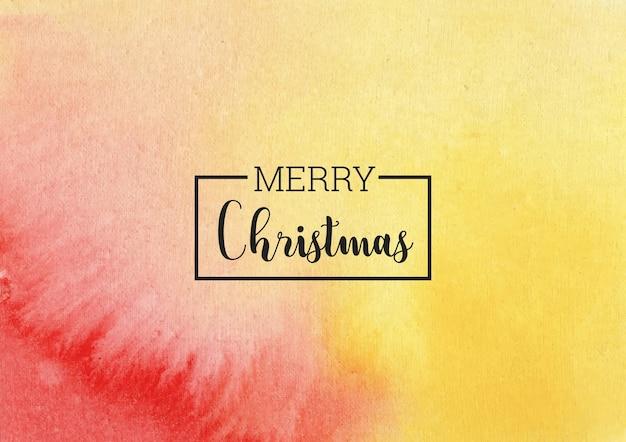Kerstmis gele en rode aquarel achtergrond