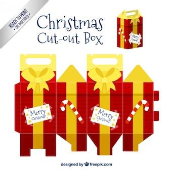 Kerstmis git doos uitgesneden