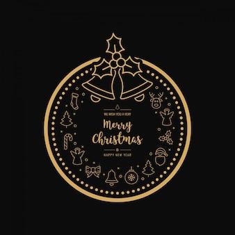 Kerstmis gouden pictogram