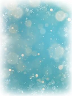 Kerstmis het fonkelen steekt bokeh lichte achtergrond aan.