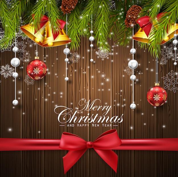 Kerstmis houten achtergrond