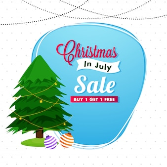 Kerstmis in juli verkoop achtergrond.