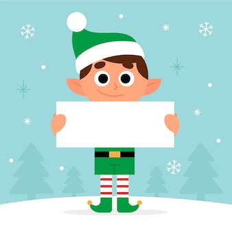 Kerstmis karakter bedrijf leeg banner