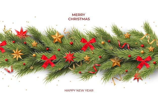 Kerstmis klatergoud realistische achtergrond