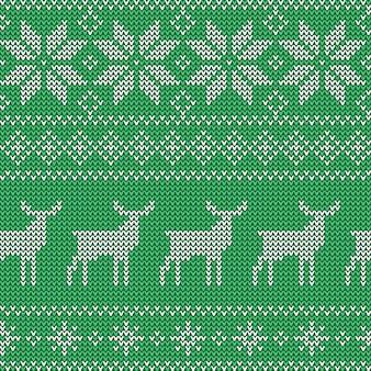 Kerstmis naadloos groen patroon.