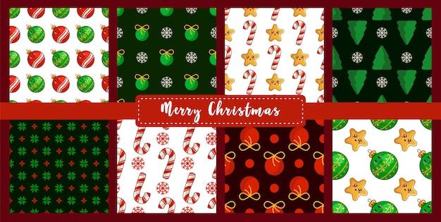 Kerstmis naadloos patroon dat met nieuwe jaardecoratie wordt geplaatst