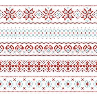 Kerstmis naadloos patroon eindeloze textuur voor behang retro stijl.