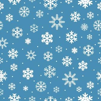 Kerstmis naadloos patroon met sneeuwvlokken.