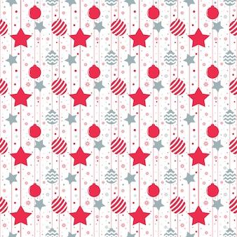 Kerstmis naadloos patroon met sterren. vector illustratie