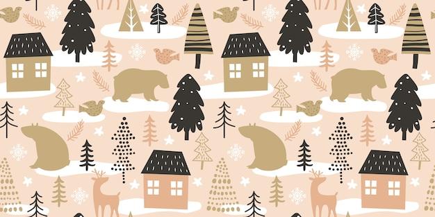 Kerstmis naadloos patroon voor decoratie