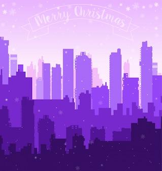 Kerstmis nieuwe jaar sneeuw