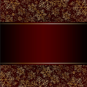 Kerstmis nieuwjaar luxe kaart met gouden sneeuwvlokken glitter