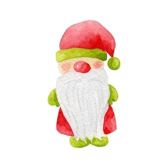 Kerstmis, nieuwjaar vector elf, gnome illustratie. dwerg illustraties geïsoleerd op wit. wnter vakantie karakter.