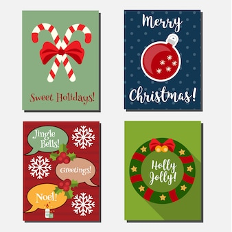 Kerstmis, nieuwjaarsjabloon vector verticale banners sjabloon.