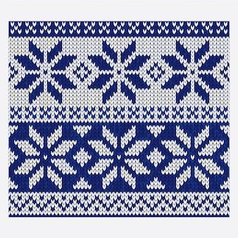 Kerstmis nordic naadloze breien illustratie