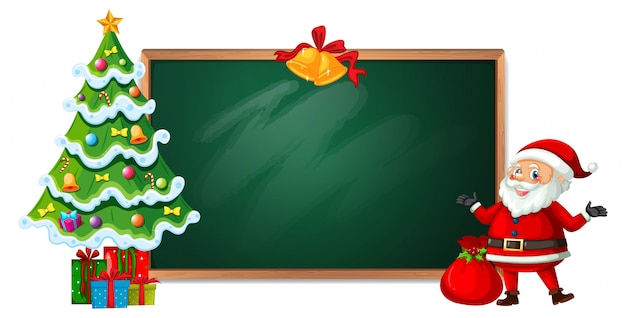 Kerstmis op blackboard banner