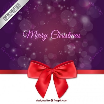 Kerstmis paarse achtergrond met bow