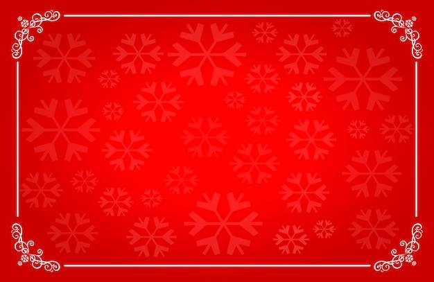 Kerstmis rode horizontale achtergrond met plaats voor tekst.